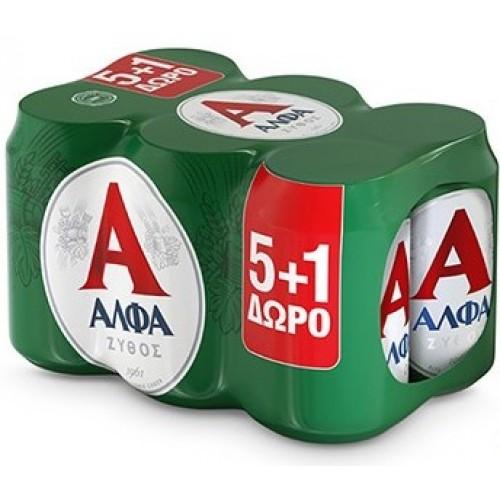 Μπύρα Κουτί Άλφα (6x330 ml) 5+1 Δώρο