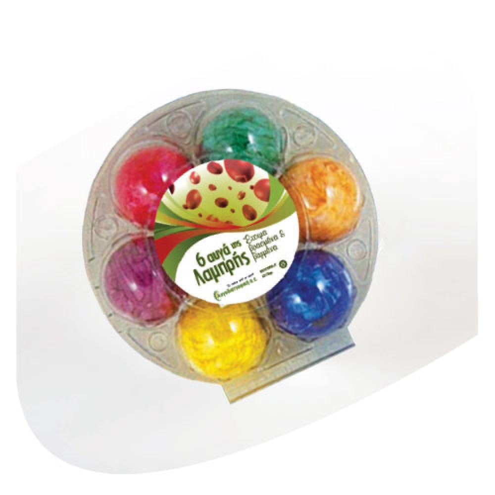 6 Βαμμένα Βρασμένα Αυγά
