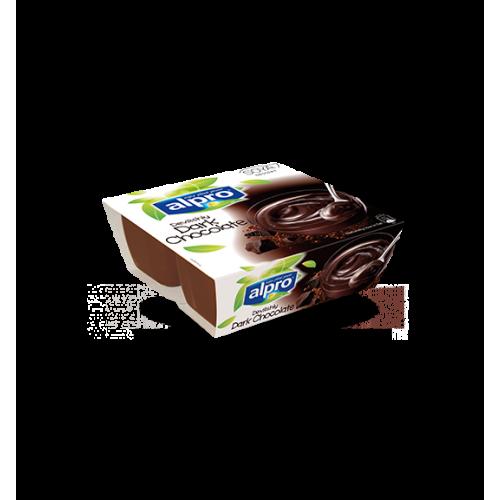 Επιδόρπιο Σόγιας με γεύση μαύρη Σοκολάτα Alpro (4x125 g)