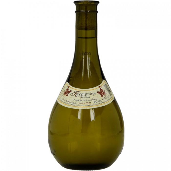 Κεχριμπάρι Ρετσίνα Οίνος Λευκός Ξηρός (500ml)