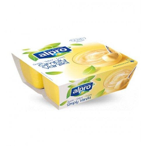Επιδόρπιο Σόγιας με γεύση βανίλια Alpro (4x125 g)