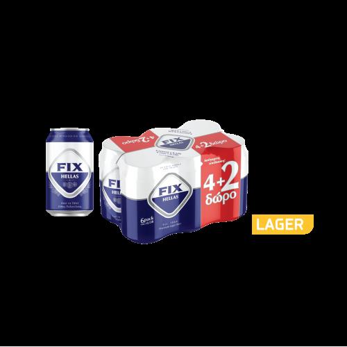 Μπύρα Κουτί Fix (6x330 ml) 4+2 Δώρο