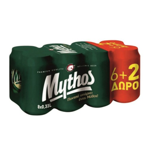 Μπύρα Κουτί Mythos (8x330 ml) 6+2 Δώρο