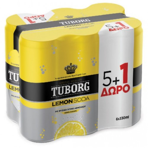 Tuborg Σόδα Με Λεμόνι 6X330ml